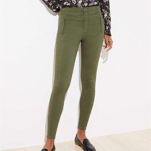 LOFT NWT Petite High Waist Skinny Sateen Pants